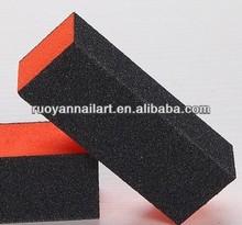 Hot sale professional 3 side nail buffer block&orange nail buffer
