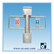 ZK fingerprint time attendance system swing gate barrier access control system