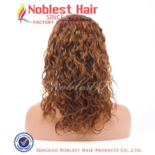 Brown natural curly Silk top full lace wigs,Indian remy hair 12''~24'' natural color,color 1#,1b#,4# natura curl,wholesale price