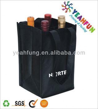OEM 6 non woven wine bottle tote bag