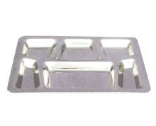 stainless steel hospital food tray with 7 compartments