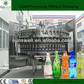 Completamente automático de agua de Soda que hace la máquina de llenado de bebidas carbonatadas máquina