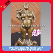 Bronze Abstract Modern Sculpture of Powerful Fat Woman Statue Figurine--Bronze Abstract Statue Sculpture