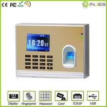 UT52 Most Ecnomical TFT Color Display tcp/ip Biometric fingerprint time recorder punch card machine