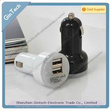 Car Charger Dual USB Cigarette Lighter for Iphone4S for Samsung / for HTC Universal car phone charger light