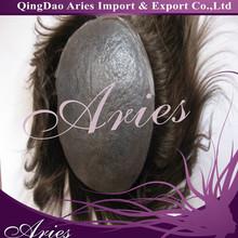 Custom handmade full thin skin base hairpiece for man, toupee, hair system