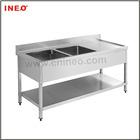 double drain board kitchen sinks/commercial stainless steel sink/sink utility