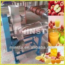 Haute efficacité pâte de gingembre faisant la Machine / automatique simples vis Apple extracteur de jus