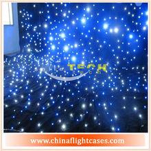 Hot selling !!! rgb led/fiber optic light star stage curtain