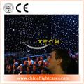 Exhibición llevada cortina flexible, led cortina de estrellas con el controlador de vuelo y el embalaje del caso