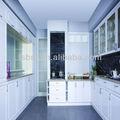 de alto brillo blanco del gabinete de cocina puerta con panel decorativo