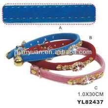 PU fashing cat collars with diamond (YL82437)