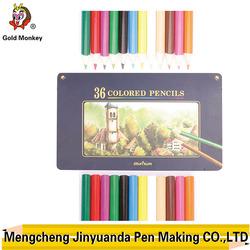 triangular color pencil in box