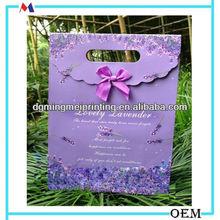 China luxury Lilac Paper Bag ,Kraft Bag Packing Birthday Gift Box Manufacturer