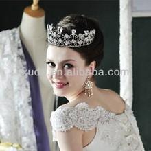 European trendy top quality wedding/party diamond big crown/tiara wholesale