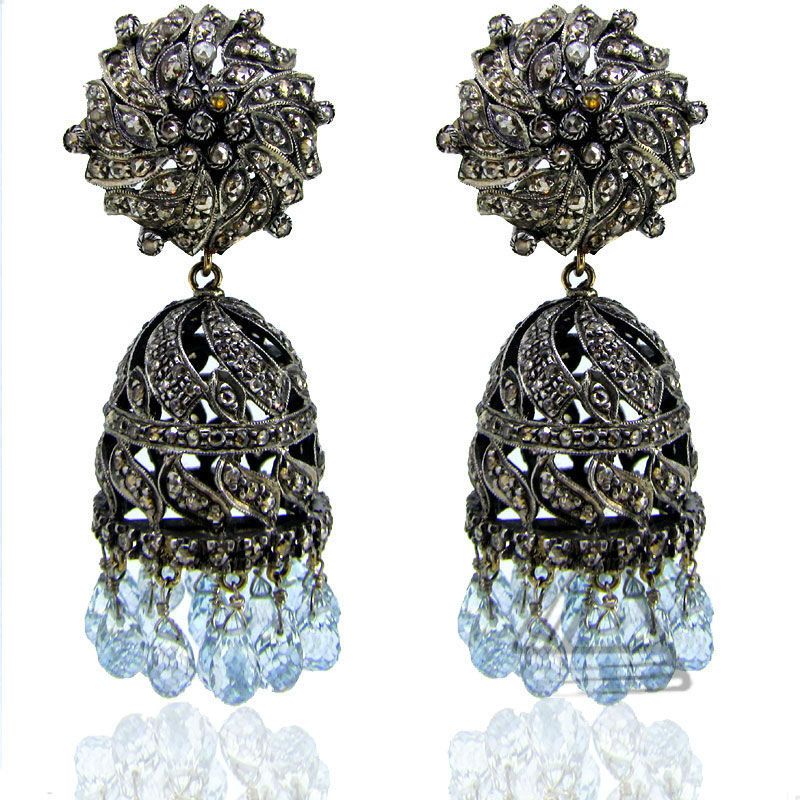 Diamond Danglers Earring, Fashion Rings Jewelry, Gold Plated Silver Ring