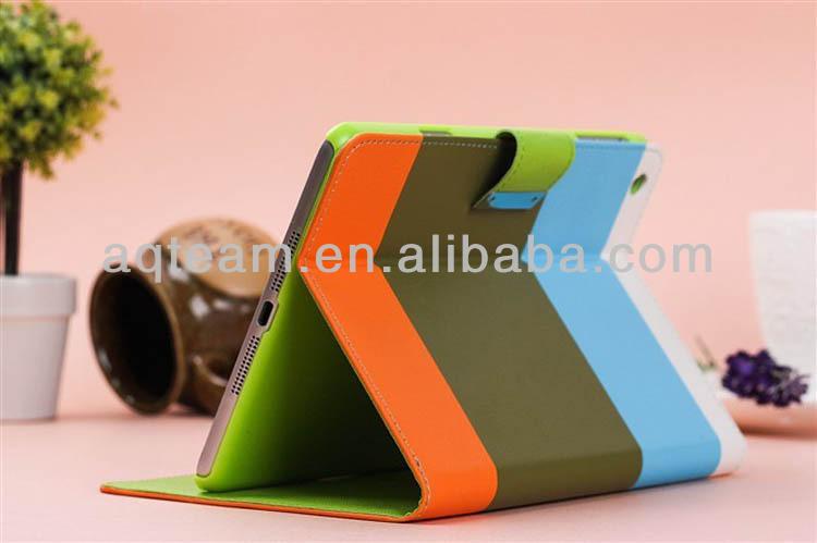 Magnet Stand Card Slot PU Hybrid Leather Case for IPad Mini 2