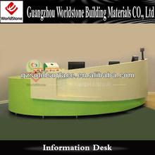 fresh courlor simple reception counter