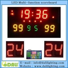 Fashion design wireless scoreboard with 24 sec shot clock