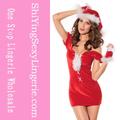 sexy schnürung weihnachten frauen lederkostüm