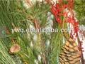 Verde follaje para decoración de la navidad piñas naturales