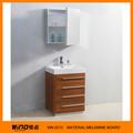 Melamina laminado de caoba muebles de baño