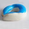 100% memory zero pressure foam 100% cotton fabric giveaway neck pillow micro beads
