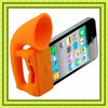 2013 new arrival silicone football speaker ,silicone horn speaker,horn stand amplifier for iphone 5