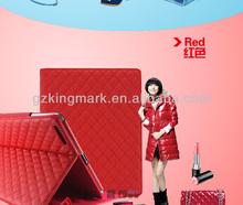 Luxury Design Diamond Pattern Lambskin Leather Case For iPad 2 3 4 Tablet iPad mini