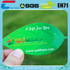 Custom leaf shaped card from professional card manufacturer