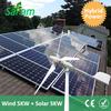 10KW Hybrid Home Energy System (5KW HAWT + 5KW PV panels)