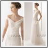 vestidos de novia floor length drop wasit tulle lace back up tulle custom make TM1217 ivory tulle wedding dress