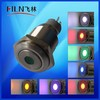 16mm ring Dot illuminated push button,stainless steel momentary push button switch,metal push button switch