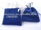 Small Drawstring Jute Jewelry Bag