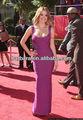 2013 precio de fábrica sexy scoop- cuello vestido de vendaje vendaje de color púrpura vestido