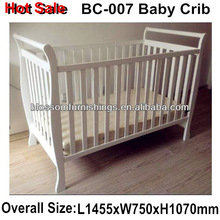 Designed Sleigh Wooden Adult Size Cribs BC-007