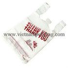 HDPE white custom T-shirt poly plastic shopping bag made in Vietnam
