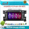 Android 4.0 autoradio distribuidor para suzuki grand vitara con cpu a10 1.0 ghz 4g flash 3g wifi