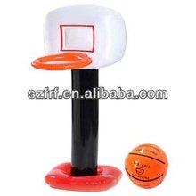 inflatable basketball hoop and ball set