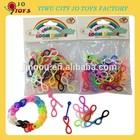 Hot Sell Loom bands silicone DIY Bracelets 8 shape