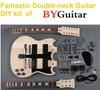 Double neck unfinished DIY Guitar Kit GK SBD 10