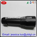 /oem y odm de la provincia de guangdong cinc negro plateado de acero de precisión parte de la máquina, galjanoplastia del cinc piezas, cnc mecanizado de piezas de la linterna
