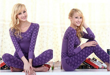 Autumn Winter fashionable women seamless thermal underwear sets 2013 hot selling