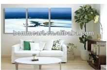 Home decoration river boat handmade oil painting set group landscape