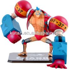 3D Franky one piece cartoon character plastic figurine