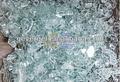claro vidrio triturado