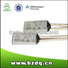 Motor winding thermostat