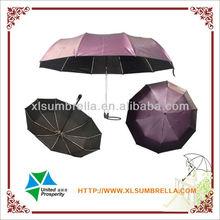 purple color changeable 3 fold umbrella proveedor china