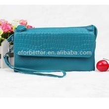 Girl wallets/Cow leather wallet/Genuine crocodile leather wallets FB-HBL099
