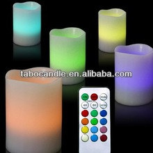 colored flameless led candles/paraffin wax battery operated candles